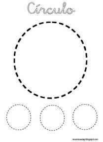 circulo formas geometricas infantiles fichas de formas gratis  para niños