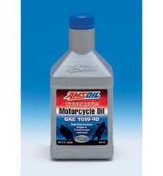AMSOIL Synthetic Motor Oil - See more AMSOIL products at http://shop.haldimandsyntheticoil.ca/motor-oil/motorcycle/10w-40-synthetic-metric-motorcycle-oil/