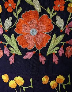 Cocktail Dress Hattie Carnegie Inc. (American) Date: Culture: American Medium: silk Dimensions: Length: 36 in. cm) Credit Line: Gift of Titi Halle 1994 Accession Number: Chain Stitch Embroidery, Tambour Embroidery, Silk Ribbon Embroidery, Embroidery Applique, Floral Embroidery, Embroidery Stitches, Machine Embroidery, Embroidery Designs, Simple Embroidery