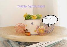 Thread Easter Eggs Mila'sLittle Things #SCBH2015