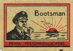 Bootsman - vintage matchbox label