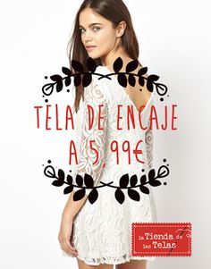 En nuestras tiendas puedes encontrar las #telas para hacerte un #vestido como este. Aprovéchate de la promoción que tenemos en #encajes esta semana a sólo 5,99€/m. Puedes encontrarnos en Almería en C/Las Tiendas y C/Murcia y en El Ejido, en C/Barcelona.