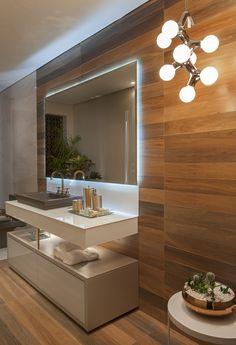 Lavabo do Apartamento Master - Casa Cor Bathrooms - Baños, banho, banheiro.