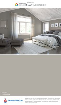 Sherwin-Williams: Pussywillow (SW 7643).