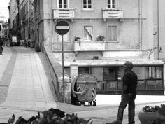 A man lost in his thoughts.... Via Sulis, Cagliari.  Soha Sardinia