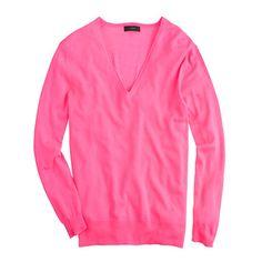 Lightweight merino V-neck sweater  J crew