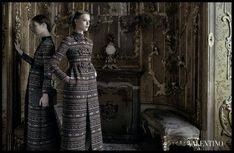 Frida Gustavsson, Jac Jagaciak & Caroline Brasch Nielsen Star in Valentinos Fall 2012 Campaign by Deborah Turbeville