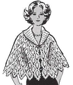 Crochet Pineapple Cape Pattern sizes 10-20