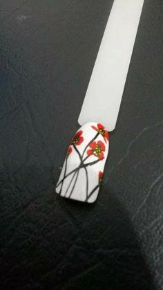 one stroke poppy One Stroke, New Nail Art, Nail Art Designs, Poppy, City, Cities, Nail Designs, Poppies