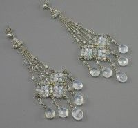 Swarovski crystal earrings designed by Andrea Li (who was featured in Elle Magazine!)