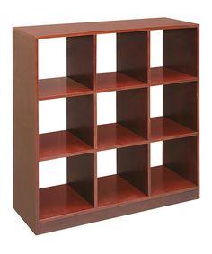 Love this Badger Basket Cherry Nine-Shelf Storage Shelf by Badger Basket on #zulily! #zulilyfinds