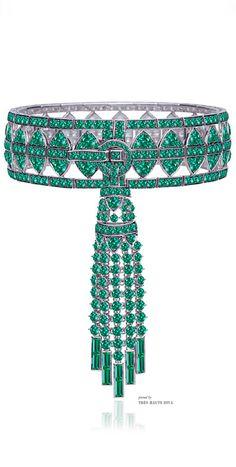 Stephen Webster 18K White Gold And Black Rhodium Bracelet With Pave Emeralds