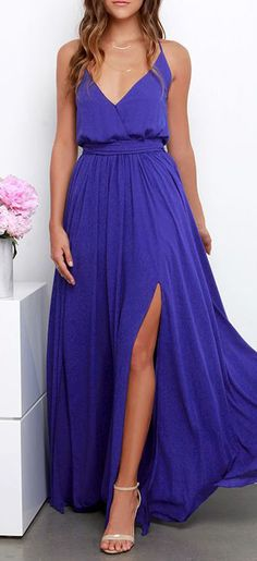 If I could find something identical to this but in white for my wedding dress Bienvenido A Miami Indigo Maxi Dress