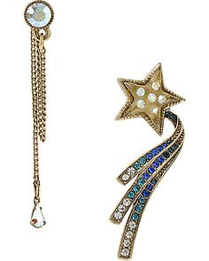 Betsey Johnson - Earrings. Perfect with the Moon and Stars Necklace!!!