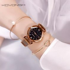 KOVONSH Starry Women Watches Magnetic Mesh Belt Band Lady Watch Stainless Steel Luxury Fashion Dress Watch Quartz Wrist Watches From Touchy Style Outfit Accessories ( Purple ) |Cute Phone Cases |Casual Shoes| Cool Backpack| Charm Jewelry| Simple Cheap Watches, and more.
