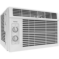 hOmeLabs 5000 BTU Window Mounted Air Conditioner - Window AC Unit Small Quiet Mechanical Controls 2 Cool and Fan Settings with Installation Kit Leaf Guards Washable Filter - Indoor Room AC - Appliances Air Conditioning Services, Heating And Air Conditioning, Best Windows, Small Windows, Indiana, Window Ac Unit, Leaf Guard