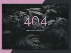 404 Page designed by Medina Krluch. Page Design, Layout Design, Web Design Inspiration, Design Ideas, Wordpress, 404 Pages, Error Page, Daily Ui, Portfolio Design