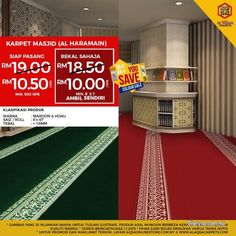 Other for sale, in Klang, Selangor, Malaysia. Have Provided Mosque Rugs With Various Variants. You are free to choose the carpet