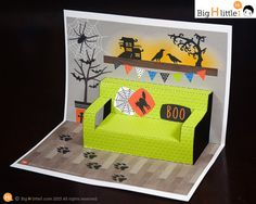 Halloween Crafts - Halloween Toy - Paper Craft Dollhouse Set - Paper Dollhouse, Dolls and Halloween Costume set - Creative Play - Kids Toy Halloween Toys, Halloween 2020, Halloween Cards, Halloween Costumes, Paper Toys, Paper Crafts, Arte Pop Up, Creative Play, Pop Up Cards