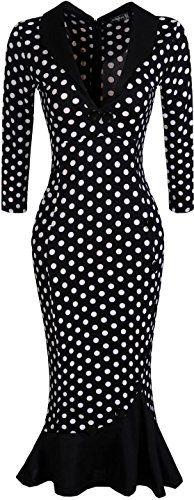 jeansian Women's Sexy Deep V-neck Fishtail Hem Evening Gowns Knee-length Dress WKD188 Black L jeansian http://www.amazon.com/dp/B01A2YZQTS/ref=cm_sw_r_pi_dp_mBmLwb1HTWDH0