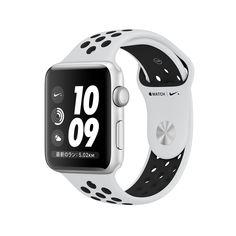 AppleWatch Nike+(GPSモデル)- 38mmシルバーアルミニウムケースとピュアプラチナム/ブラックNikeスポーツバンド - Apple(日本)