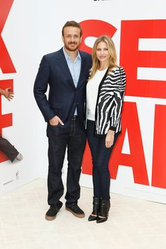 Pin for Later: This Week's Can't-Miss Celebrity Photos  Cameron Diaz made another BFF, her costar Jason Segel. The actors presented their film Sex Tape in Paris.