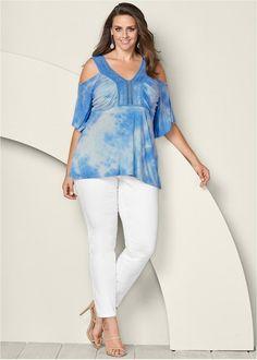 c9d61e4165b808 ALTERNATE VIEW Tie Dye Crochet Top White Jeans, Crochet Top, Tie Dye, Tye