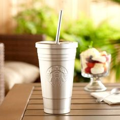 Starbucks Stainless Steel Cold Cup is a nonplastic option for a friend with a coffee fetish.