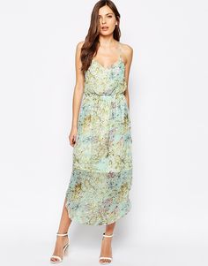 BCBG Generation Maxi Dress With Sheer Skirt In Floral #copperpennyhiltonhead