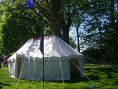 Gen Washington's Marque Tent sewn at Colonial Williamsburg, on display at Mount Vernon
