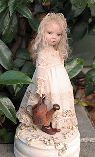 *EMILY ~ vintage little girl, made of Polymer clay, by Claudine Roelens