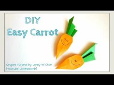 Easter Crafts - DIY Origami Carrot - Easy Paper Crafts for Kids this Easter