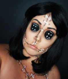VooDoo Doll Halloween costume VooDoo Doll Makeup