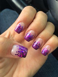 Light elegance purple rain gel  and loose purple glitter
