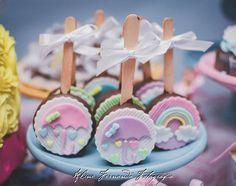 Fondant Baby, Fondant Rose, Baby Birthday, First Birthday Parties, First Birthdays, Chocolate Dipped Oreos, Chocolate Treats, Chocolate Fondant, Candy Table