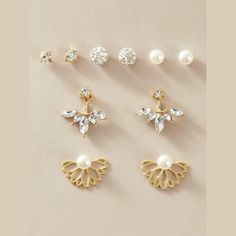 Vintage Classic Drop Earrings – klozetstyle.com Tassel Drop Earrings, Small Earrings, Crystal Earrings, Women's Earrings, Flower Earrings, Gold Earrings For Women, Minimalist Earrings, Vintage Earrings, Earring Set