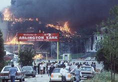 People come to watch as the Arlington Park fire rages out of control on July Arlington Park, Arlington Heights, July 31, Local History, Old Toys, Daily News, The Locals, Childhood Memories, Illinois