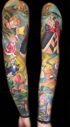 Tatuagens de Alice no País das Maravilhas   Tinta na Pele