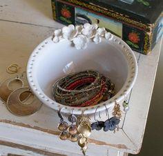 Earring Bowl Jewelry Bowl handmade ceramic by redhotpottery, $38.00 by tasha