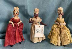 Vintage 3 Corn Husk Dolls Tagged Mrs Ganell Marshall   eBay Corn Husk Dolls, St Kitts, Grenada, Trinidad And Tobago, Sri Lanka, Tags, Ebay, Vintage, Antigua