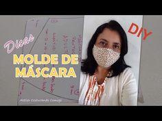 COMO FAZER MOLDE DE MÁSCARA DE PROTEÇÃO DIY - YouTube Crochet Necklace, Crafts For Kids, Patches, Crochet Hats, Youtube, Sewing, Face, Tic Tac, Fitness