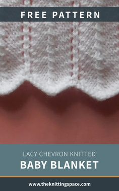 This lacy chevron knitted baby blanket is perfect for every baby. It will leave them feeling warm, cozy, and loved! Get the FREE . Winter Knitting Patterns, Baby Sweater Knitting Pattern, Knitting Yarn Diy, Free Knitting, Chevron Baby Blankets, Knitted Baby Blankets, Baby Patterns, Warm, Baby Shower