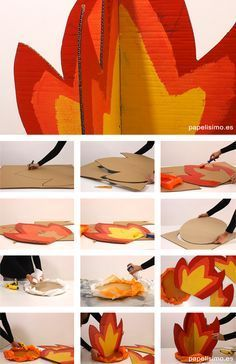 hoguera-fuego-de-carton-diy-cardboard-bonfire-paso-a-paso