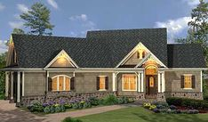 Plan W15885GE: Affordable Gable Roofed Ranch Home Plan