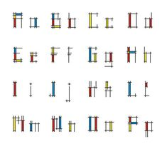 #neoplasticism #fonts Bar Chart, Diagram, Fonts, Instagram, Designer Fonts, Types Of Font Styles, Bar Graphs, Script Fonts, Wedding Fonts