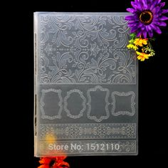 Kwan Crafts A4 Size Leaves Frame Plastic Embossing Folders for Card Making Scrapbooking and Other Paper Crafts 29.7x21cm