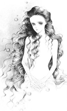 "Mermaid from ""Moon Child"" series by manga artist Reiko Shimizu."