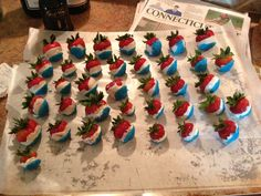 red white and blue strawberries