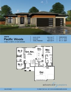 Take a survey restructured country style home decor farm houses House Plans One Story, Ranch House Plans, Dream House Plans, Modern House Plans, Modern House Design, House Floor Plans, Bungalow Homes Plans, Modern Floor Plans, Prarie Style Homes