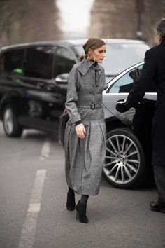 Olivia Palermo seen in the streets of Paris during the Paris Fashion Week Womenswear Fall/Winter 2018/2019 on February 27 2018 in Paris France